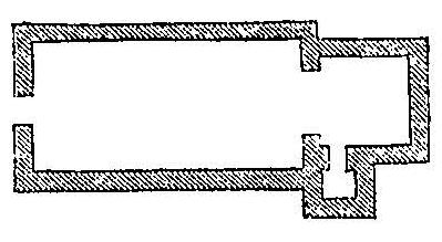 Plan de l'église de Vieux-Pont au XIe siècle