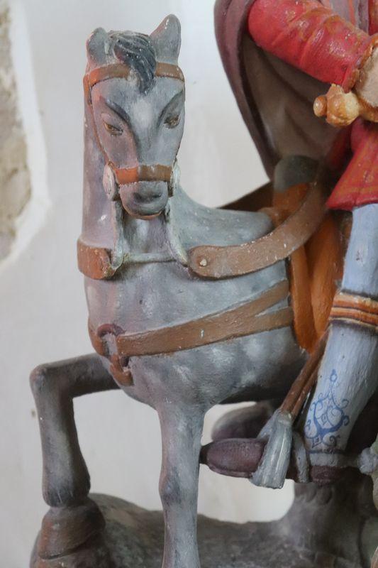 Cheval de Saint-Martin, église de Vieux-Pont