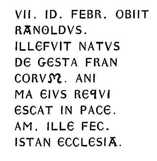 Plaque Ranoldus