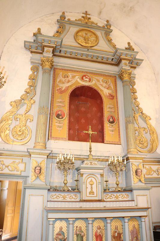 Retable sans tableau, église de Vieux-Pont
